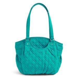 Vera Bradley Glenna Shoulder Bag-Turquoise Sea